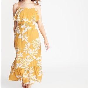 Old navy yellow maxi dress